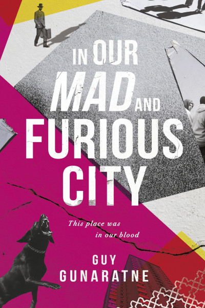book cover: In our mad and furious city, by Guy Gunaratne