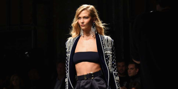 Kalie Kloss on a fashion catwalk