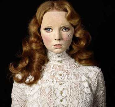 Lily Cole in a mask by Gillian Wearing